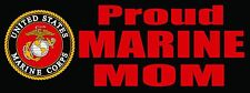 Proud Marine Mom  -  Bumper Sticker Decal U.S. Marines United States Marines
