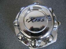 """EXISS 8 lug 8 3/8"""" Diameter, fits 7/8"""" lug nut, chrome center cap hub cap hubcap"""