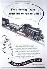 1953 Hornby-Dublo Clockwork Trains ADVERT LMS Locomotive - Original Print AD