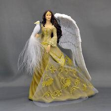 Wings of Honor  - Nene Thomas Angel Figurine with Cockatoo - Bradford Exchange