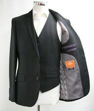 Herren Harry Brown Slim Fit Weste & Blazer Set in schwarz (40r)... - 5872