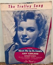 Vintage 1944 Sheet Music The Trolley Song Judy Garland Meet Me In St. Louis