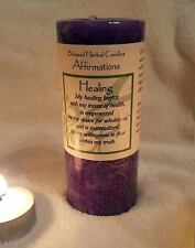 "Healing Affirmation 2x4"" Pillar Candle ~ Empowerment, Wholeness, Wellness"