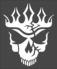 1- 5x6 inch Custom Stencil, (BD-9) Skull King, Free Shipping