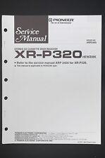 Pioneer xr-p320 original Service-Manual/- instrucciones/esquema eléctrico! o13