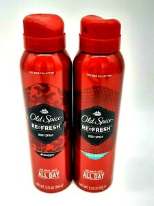 Old Spice Swagger Pure Sport Refresh Body Spray Red Zone Collection Set Of 2