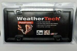 Weather Tech Plate Frame NIP New Black w/Hardware Virtually Indestructible