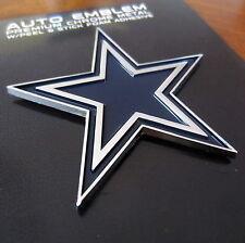 DALLAS COWBOYS BLUE STAR CHROME METAL NFL AUTO EMBLEM car truck football decal