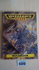 LIMITED EDITION SPACE MARINE CAPTAIN WH40K 25TH ANNIVERSARY NISB & RULEBOOK #689