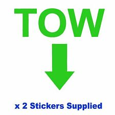 2 x MSA Specification - GREEN TOW Arrow Race / Rally Car Decals / Stickers