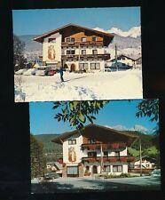 2 Karten aus Schladming Haus Barbara Sommer und Winter,  Steiermark  (C32)