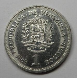 Venezuela Bolivar 1989(sc) Nickel Clad Steel Y#52a.2 UNC
