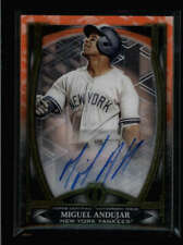 MIGUEL ANDUJAR 2019 TOPPS TRIBUTE ICONIC PERSPECTIVES ORANGE AUTO #16/25 FC2246