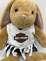 Build a Bear Harley Davidson BAB Pawlette Bunny Rabbit Plush Tan Floppy Retired