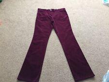 M&s Ladies Berry Cord Trouser Pants Size 14 Medium BNWT Free Sameday P&p