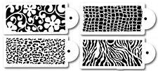 4 PACK Cake decorating Airbrush Icing Frosting Fondant Zebra Reptiles Stencils