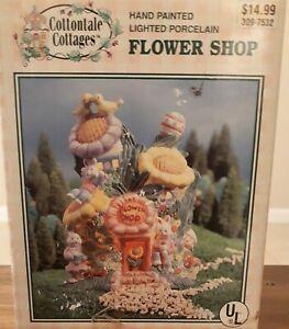 Cottontale Cottages 1999 Hand Painted Porcelain Flower Shop Original Box