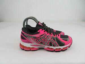 Asics Gel-Nimbus 15 Lite-Show Running Shoes Black/Reflective/Pink Womens 6.5