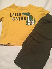 Crazy 8 Boys Outfit Size 3-6-12 Months Alligator