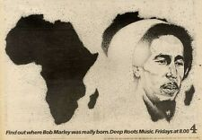 """6/11/82PGN53 RARE BOB MARLEY : DEEP ROOTS CHANNEL FOUR ADVERT 7X11"""""""