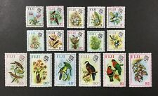 FIJI #305-320, 1971-2 set of 16 QEII flowers/birds, FVF, MNH, CV $39.45. (BJS).
