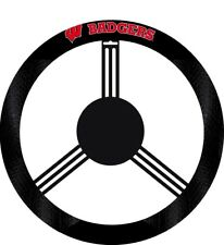 WISCONSIN BADGERS Steering Wheel Cover Unverisal Fits Trucks or Cars w/Team Logo
