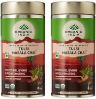 2 Pack x 100 gm Organic India Tulsi Masala Chai - F/Shipping