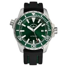 Zeno Men's Divers Green Dial Black Rubber Strap Automatic Watch 6603-2824-A8