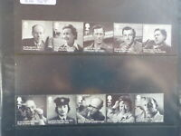 GREAT BRITAIN 2014 REMARKABLE LIVES 100yrs BIRTH SET 10 MINT STAMPS