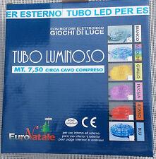 TUBO LUMINOSO LED 7,5m 108 LED COL.BIANCO LUCE FREDDO DECORO NATALE CASA UFFICIO