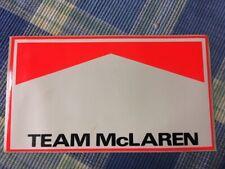 Team McLaren Marlboro Formula One Vintage Sticker/Decal