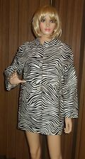 PIERRE BALMAIN Leather zebra Print Haircalf coat sz IT 40 new