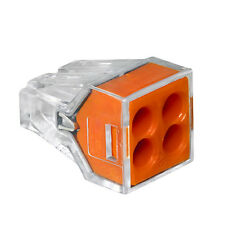 Wago 773-164 Pushwire™ Connector 4-Pole Wall-Nuts™, Box of 100