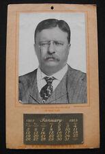 Rare 1913 Colonel Theodore Teddy Roosevelt Advertising Calendar - Farm Journal
