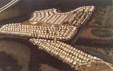 Fort Myers Florida~Aerial View: Orange Harbor Mobile Park Island~1980s Postcard