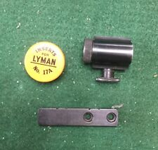 Lyman 77R globe sight w/ base & inserts Redfield Winchester 52, Springfield 03