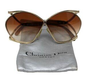 Vintage Christian Dior Butterfly Sunglasses Authentic 2056 41 Austria Case 80's