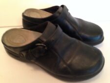 Dansko Clogs 39/8,5-9 Black Career Casual Strap Buckle Comfort Insoles   3B