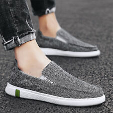 Men Flat Canves Loafers Casual Work  Slip On Gommino Shoes Driving Shoes