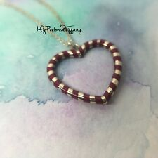 Excellent Authentic Retired Tiffany & Co. Palina Purple Heart Silver Necklace