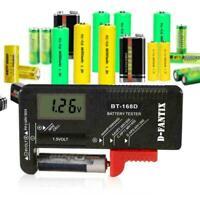 BT168D LCD Smart Digital Battery Tester Electronic Power New Measure Batter W3C9