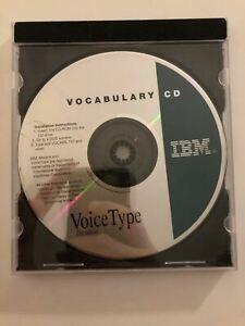 **RARE** IBM VoiceType Dictation CD-ROM Vocabulary CD IBM PC DOS