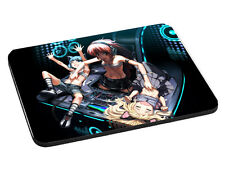 Anime Female DJ Theme Mouse Mat, Pad 220mm x 180mm, 5mm Thick