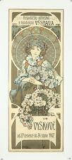 Vintage Style Alphonse Mucha Poster GIANT STICKER Art Nouveau Vystava Czech 1902