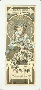 Vintage Style Alphonse Mucha Affiche Géant Autocollant Art Nouveau Vystava Czech
