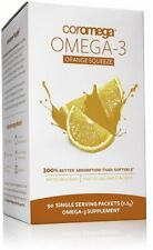 Omega 3 Squeeze, Coromega, 90 packets Orange