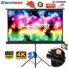 "100"" 16:9 1080P 3D 4K HD Pull Up Projector Screen Cinema Theater w/ Stand Tripod"
