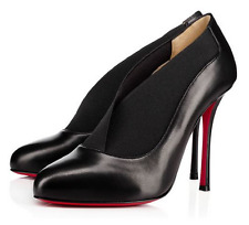 NWOB Christian Louboutin Toot Couverte 100 Black Leather Booties Heels 39  $845