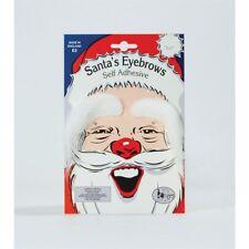 White Father Christmas Stick-on Eyebrows - Santa Self Adhesive Fancy Dress
