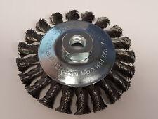 Kegelbürste 115mm für Flex Winkelschleifer Drahtbürste Zopfbürste Topfbürste M14
